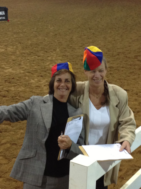 Robin and Cindy Griffeth judging in Virginia